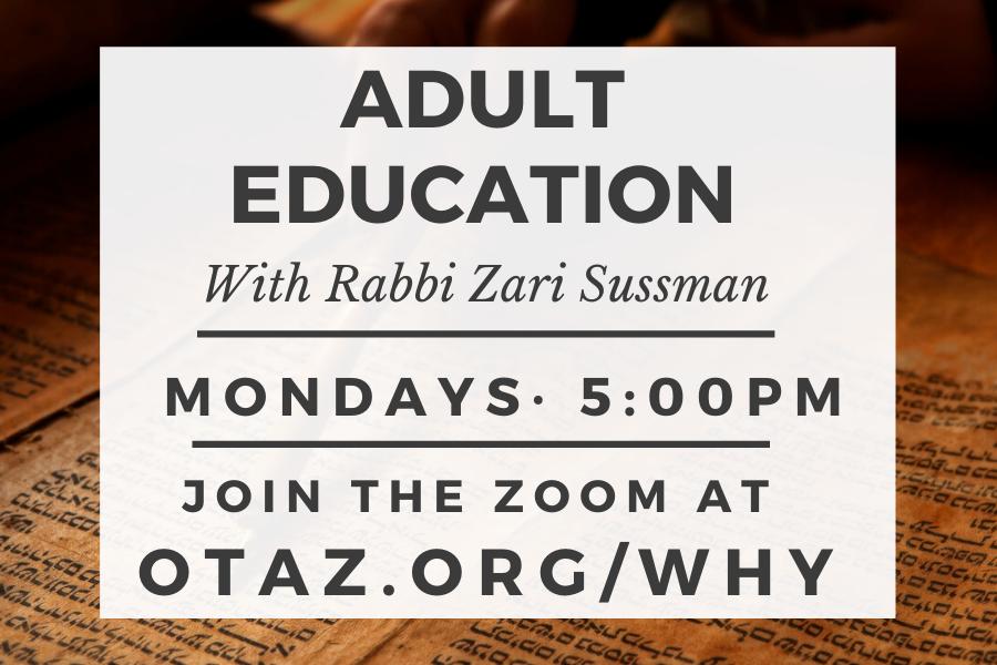 Adult Education with Rabbi Sussman
