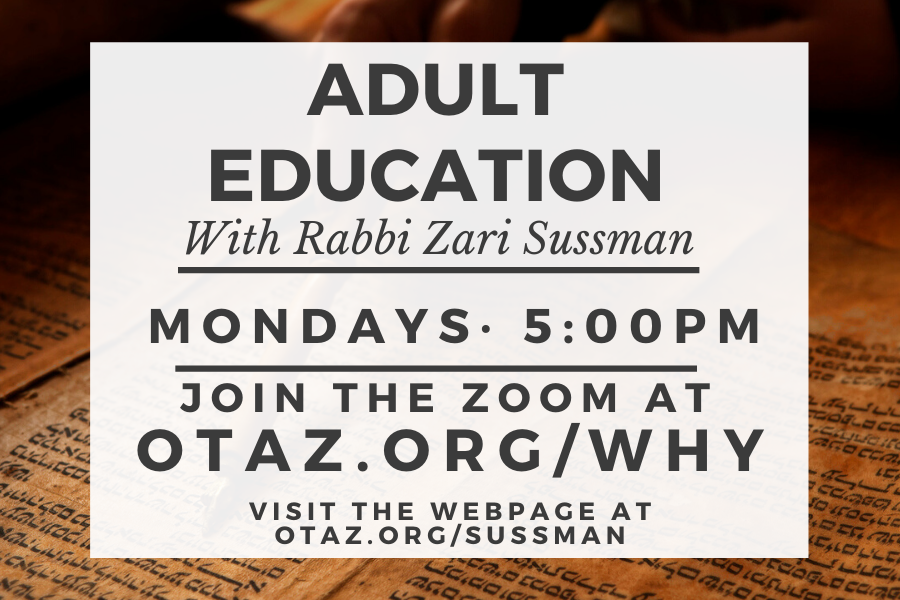 Adult Education with Rabbi Sussman